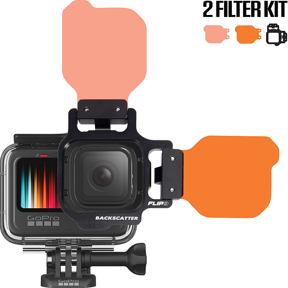 FLIP9 Two Filter Kit with SHALLOW & DIVE Filters for GoPro 5, 6, 7, 8, 9