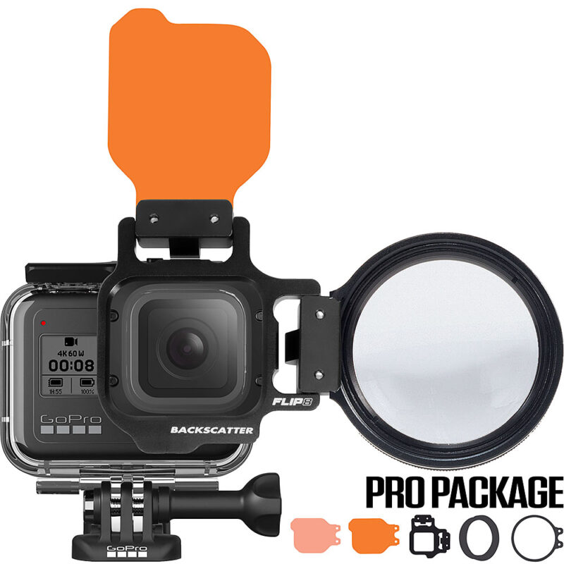FLIP8 Pro Package with SHALLOW & DIVE Filters & +15 MacroMate Mini Lens for GoPro HERO 5, 6, 7 & 8
