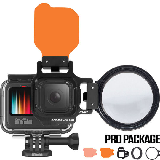 FLIP9 Pro Package with SHALLOW & DIVE Filters & +15 MacroMate Mini Lens for GoPro HERO 5, 6, 7, 8, 9